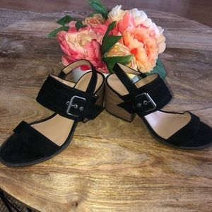 Suede Square Heels